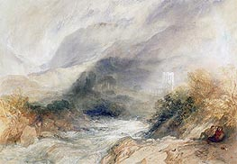 Llanthony Abbey, Monmouthshire | J. M. W. Turner | Painting Reproduction