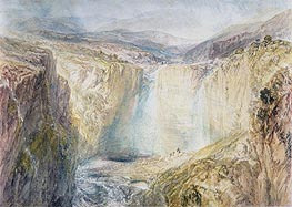Fall of the Tees, Yorkshire, c.1825/26 by J. M. W. Turner | Painting Reproduction