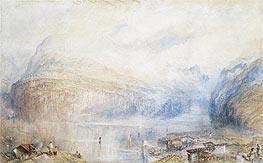 Lake of Lucerne from Brunnen, 1845 by J. M. W. Turner | Painting Reproduction