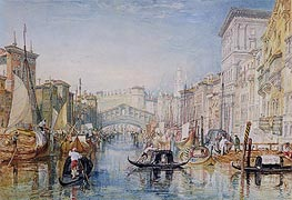 Venice, The Rialto, c.1820/21 by J. M. W. Turner | Painting Reproduction