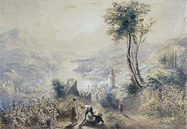 Berncastle (Oberwesel), undated by J. M. W. Turner | Painting Reproduction
