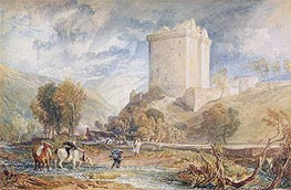 Borthwick Castle, 1818 by J. M. W. Turner | Painting Reproduction