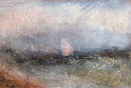 Off the Nore (Squally Weather), undated by J. M. W. Turner | Painting Reproduction