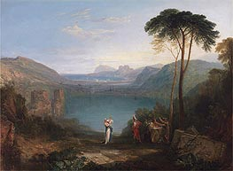 Lake Avernus: Aeneas and the Cumaean Sybil, undated by J. M. W. Turner | Painting Reproduction