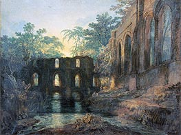 Fountains Abbey, undated by J. M. W. Turner | Painting Reproduction