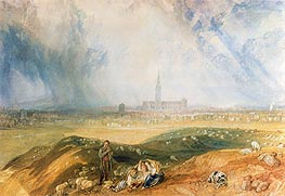 Salisbury Cathedral, undated by J. M. W. Turner | Painting Reproduction