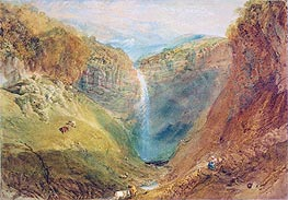Hardraw Fall, Yorkshire, c.1820 by J. M. W. Turner | Painting Reproduction