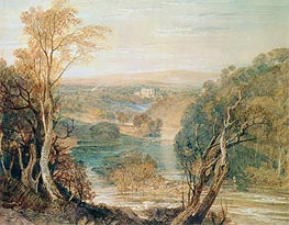The River Wharfe with a Distant View of Barden Tower, undated by J. M. W. Turner | Painting Reproduction