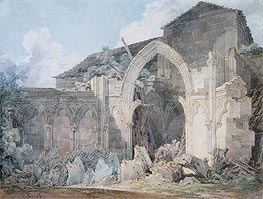 Glastonbury Abbey, undated by J. M. W. Turner | Painting Reproduction