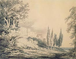 Villa d'Este, c.1796 by J. M. W. Turner | Painting Reproduction