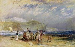 Folkestone Harbour and Coast to Devon, c.1830 by J. M. W. Turner | Painting Reproduction