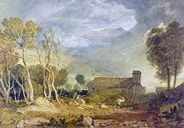 Patterdale Old Church, c.1810/15 by J. M. W. Turner | Painting Reproduction