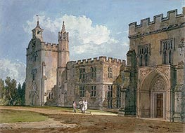 The Bishop's Palace, Salisbury, c.1795 by J. M. W. Turner | Painting Reproduction