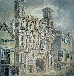 Christchurch Gate, Canterbury, c.1792/93 by J. M. W. Turner | Painting Reproduction
