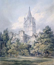 Christ Church, Oxford, 1794 by J. M. W. Turner | Painting Reproduction