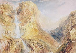 Mossdale Fall, Yorkshire, c.1816/18 by J. M. W. Turner | Painting Reproduction