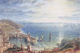 Torbay from Brixham, c.1816/17 by J. M. W. Turner | Painting Reproduction