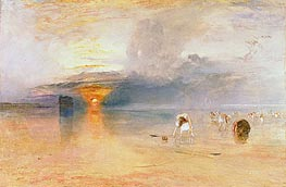 Calais Sands at Low Water, Poissards Gathering Bait | J. M. W. Turner | Painting Reproduction
