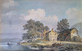 A Farmhouse by a Lake in the Lake District | J. M. W. Turner | Painting Reproduction