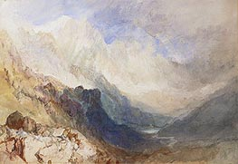 A Scene in the Val d'Aosta, undated by J. M. W. Turner | Painting Reproduction