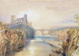 Barnard Castle, undated by J. M. W. Turner | Painting Reproduction