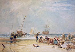 Fishmarket on the Sands, Hastings, undated by J. M. W. Turner | Painting Reproduction