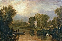 Eton College from the River (The Thames at Eton), c.1808 by J. M. W. Turner | Painting Reproduction