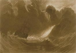 Ship in a Storm, from the (Little Liber), c.1826 by J. M. W. Turner | Painting Reproduction