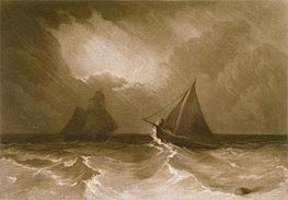 Ship and Cutter, from the (Little Liber), c.1826 by J. M. W. Turner | Painting Reproduction