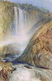 The Falls of Terni, 1817 by J. M. W. Turner | Painting Reproduction