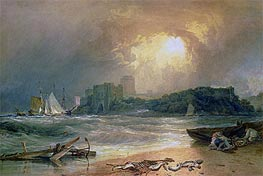 Pembroke Castle, undated by J. M. W. Turner | Painting Reproduction