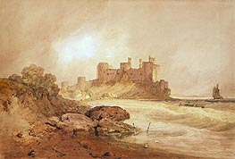 Conway Castle, North Wales, c.1800 by J. M. W. Turner | Painting Reproduction