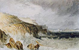 Plymouth Citadel, a Gale, 1815 by J. M. W. Turner | Painting Reproduction