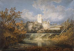 Kirkstall Abbey, Yorkshire, 1797 by J. M. W. Turner | Painting Reproduction