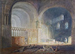 Transept of Ewenny Priory, Glamorganshire, c.1797 by J. M. W. Turner | Painting Reproduction
