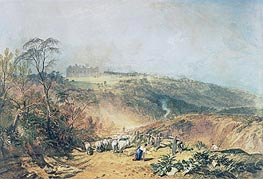 Eridge Castle, East Sussex, undated by J. M. W. Turner | Painting Reproduction