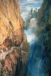 Passage of Mount St. Gotthard from the Devil's Bridge | J. M. W. Turner | Painting Reproduction