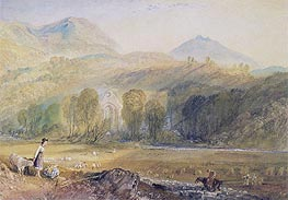 Valle Crucis Abbey, Denbighshire, c.1826 by J. M. W. Turner | Painting Reproduction