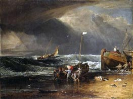 A Coast Scene with Fishermen Hauling a Boat Ashore (The Iveagh Seapiece) | J. M. W. Turner | Gemälde Reproduktion