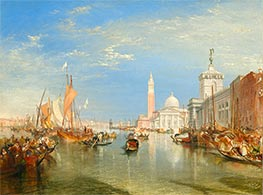 Venice: The Dogana and San Giorgio Maggiore, 1834 by J. M. W. Turner | Painting Reproduction