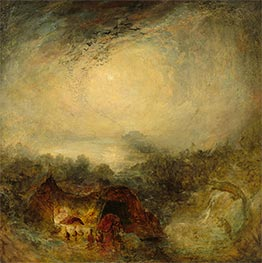 The Evening of the Deluge, c.1843 by J. M. W. Turner | Painting Reproduction