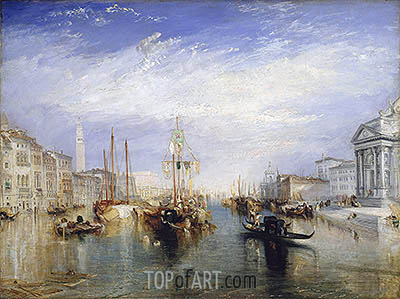 Venice, from the Porch of Madonna della Salute, c.1835 | J. M. W. Turner | Gemälde Reproduktion
