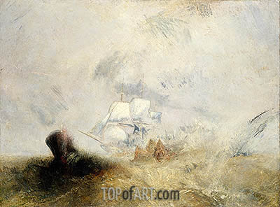 The Whale Ship, c.1845 | J. M. W. Turner | Gemälde Reproduktion