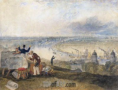 View of London from Greenwich, 1825 | J. M. W. Turner | Gemälde Reproduktion