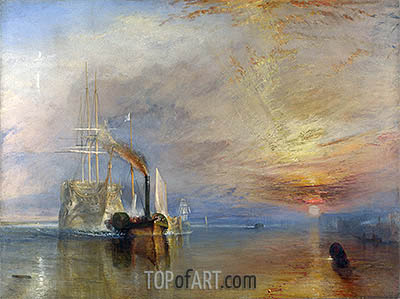 The Fighting Temeraire, 1839 | J. M. W. Turner | Painting Reproduction