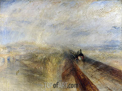 Rain, Steam and Speed - The Great Western Railway, 1844 | J. M. W. Turner | Painting Reproduction