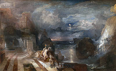 The Parting of Hero and Leander, b.1837 | J. M. W. Turner | Painting Reproduction