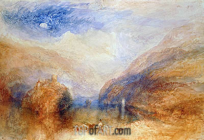 The Lauerzer See with the Mythens (Lake of Brienz), c.1845/50 | J. M. W. Turner | Painting Reproduction