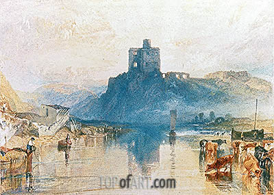 Norham Castle on the River Tweed, c.1822/23 | J. M. W. Turner | Painting Reproduction