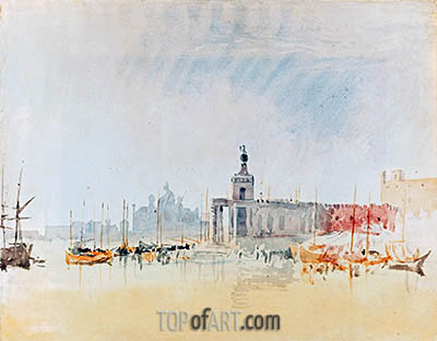 Venice: The Punta della Dogana with the Zitelle in the Distance, 1819 | J. M. W. Turner | Painting Reproduction